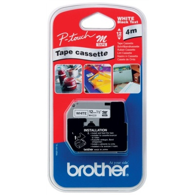 BROTHER MK-231BZ Black On White Tape (12mm)