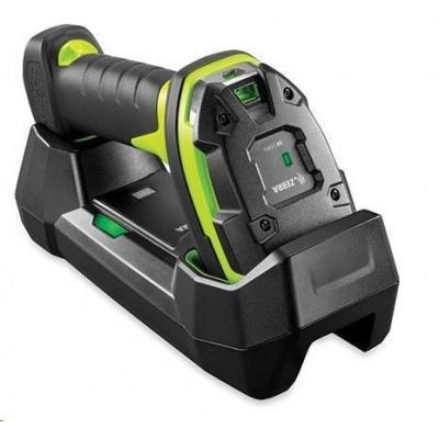 Zebra průmyslová čtečka LI3678-SR odolná GREEN, vibrace standardní stojánek USB (kroucený) KIT