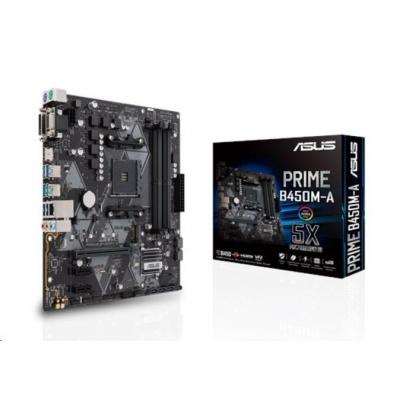 ASUS MB Sc AM4 PRIME B450M-A/CSM (SW + PUR RMA), AMD B450, 4xDDR4, VGA, mATX