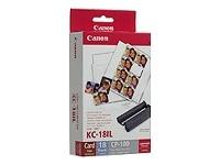 Canon KC18IL papír 22x17,3mm 18ks do termosublimační tiskárny