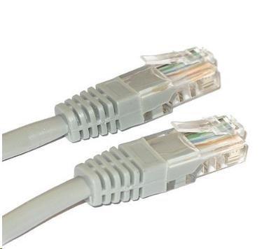 Patch kabel XtendLan Cat5E, UTP, křížený - 2m, šedý
