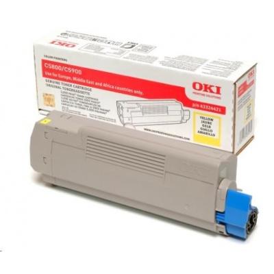 Oki Toner Žlutý do C5800/C5900/C5550 MFP (5 000 stránek)
