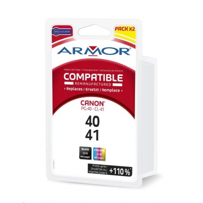 ARMOR cartridge pro CANON Pixma iP 1200, 2200,MP140, MP460,(PG-40/CL-41)černá/black+3 colors