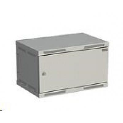 Solarix rozvaděč nástěnný SENSA 6U 400mm, dveře plech, RAL 7035 SENSA-6U-64-21-G