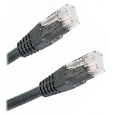 Patch kabel Cat5E, UTP - 1m, černý
