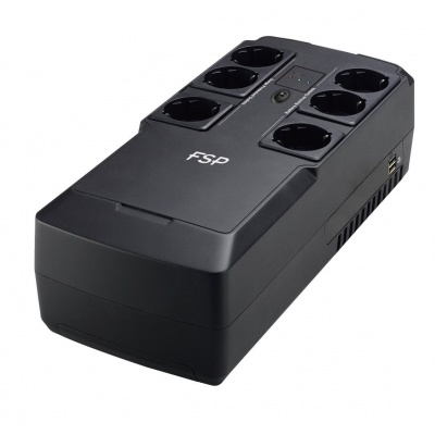 Fortron UPS FSP NanoFit 800, 800 VA, 2xUSB power, LCD, RJ45, offline