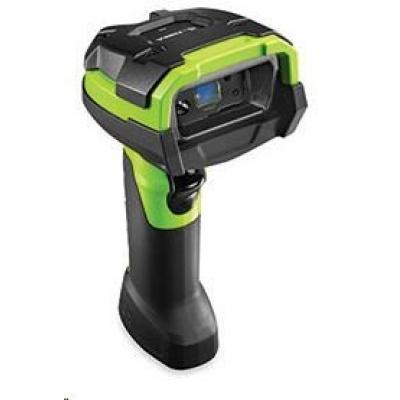 Zebra průmyslová čtečka DS3608-HP 2D odolná GREEN, vibrace USB KIT