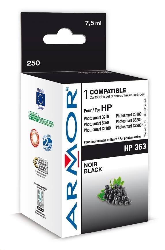 ARMOR cartridge pro HP Photosmart 8250, PSC3210, C5180 Black (C8719E)