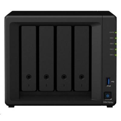 Synology DS418play DiskStation (2C/CeleronJ3355/2-2,5GHz/2GBRAM/4xSATA/2xUSB3.0/2xGbE)