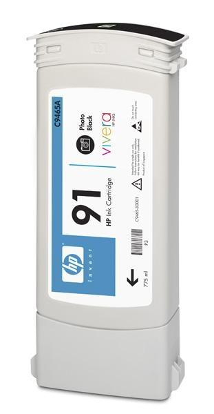 HP 91 Black photografic DJ Ink Cart, 775 ml, C9465A