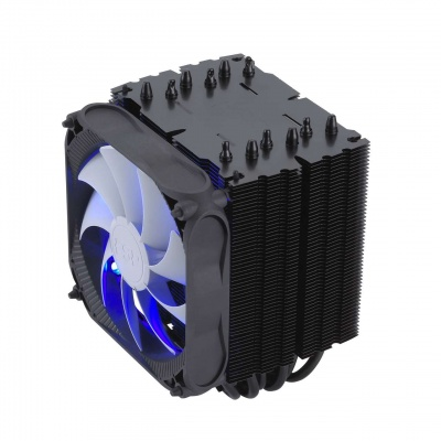 Fortron Chladič CPU Windale 6 Cooler AC601, 6 Heat-Pipe, 240W TPD, 120 mm PWM blue LED