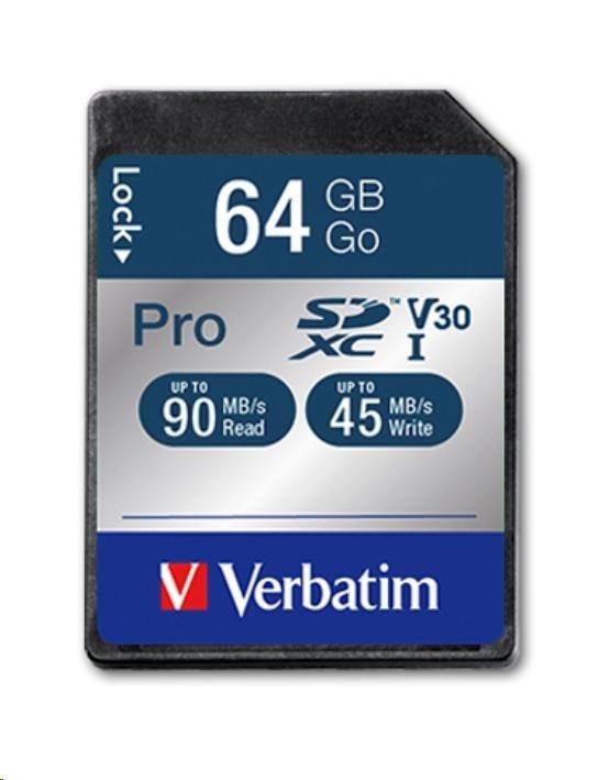 VERBATIM Pro U3  Memory Card SDHC/SDXC 64GB