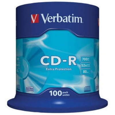 VERBATIM CD-R(100-Pack)Spindle/EP/DL/52x/700MB