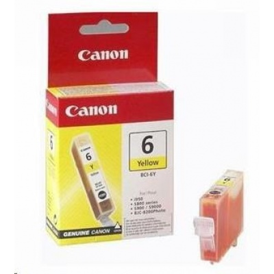 Canon BJ CARTRIDGE yellow BCI-6Y (BCI6Y)