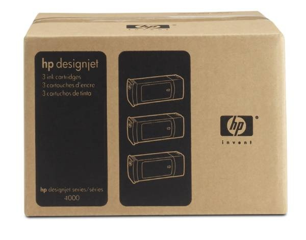 HP 90 Yellow DJ Ink Cart, 400 ml, 3-pack, C5085A