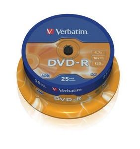 VERBATIM DVD-R(25-Pack)Spindle/General Retail/16x/4.7GB