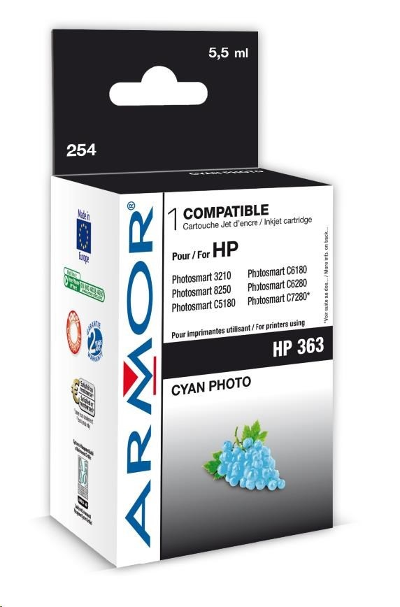ARMOR cartridge pro HP Photosmart 8250, PSC3210, C5180 Photo Cyan (C8774E)